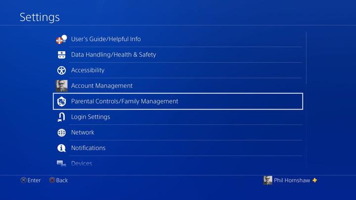 contrôle parental gestion de la famille comment configurer le contrôle parental de la playstation 4