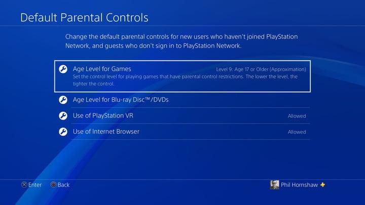 contrôle parental par défaut comment configurer le contrôle parental de la playstation 4