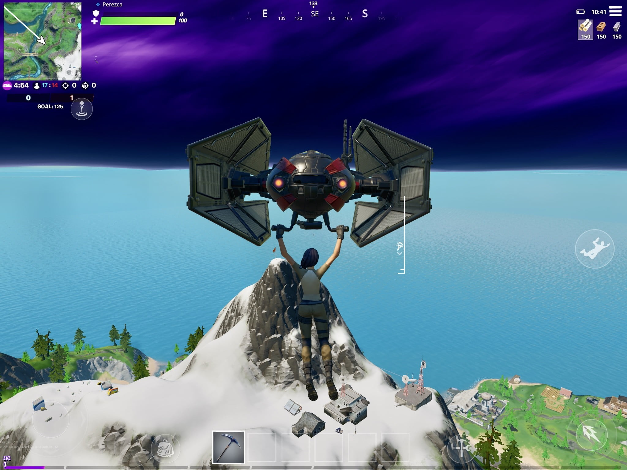 Fortnite - Atterrissage du Mont Kay