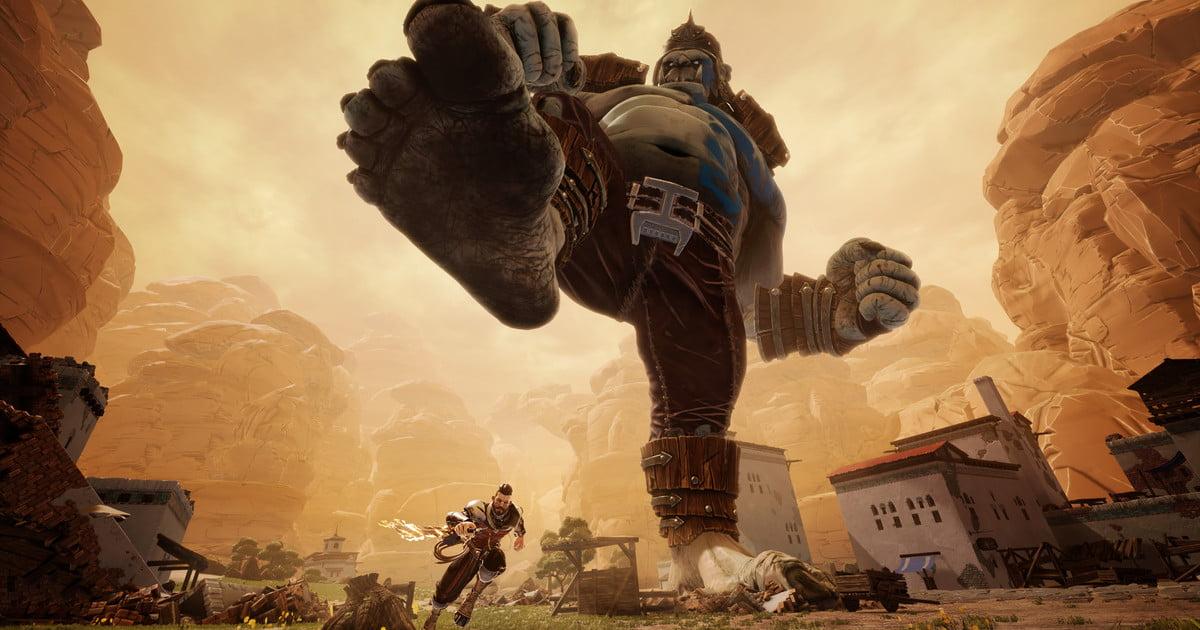 """Combattez des ogres géants pour sauver l'humanité dans """"Extinction"""", disponible le 10 avril."""