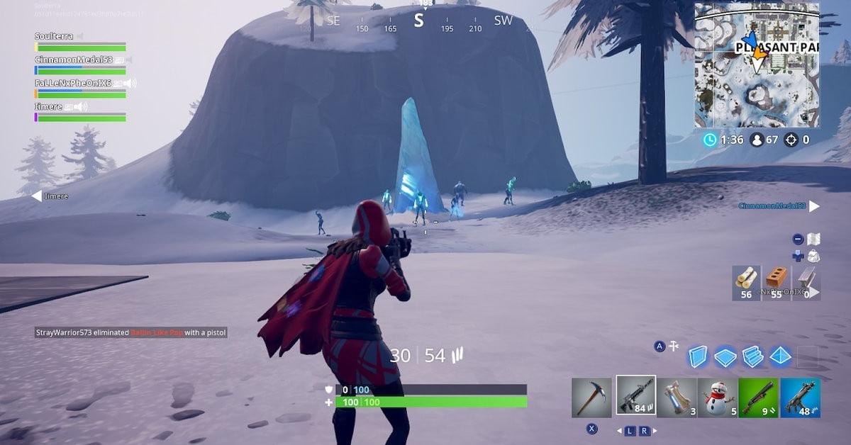 Défis de la tempête de glace de Fortnite : Où détruire un tesson de glace dans les différents matchs de la saison 7 ?