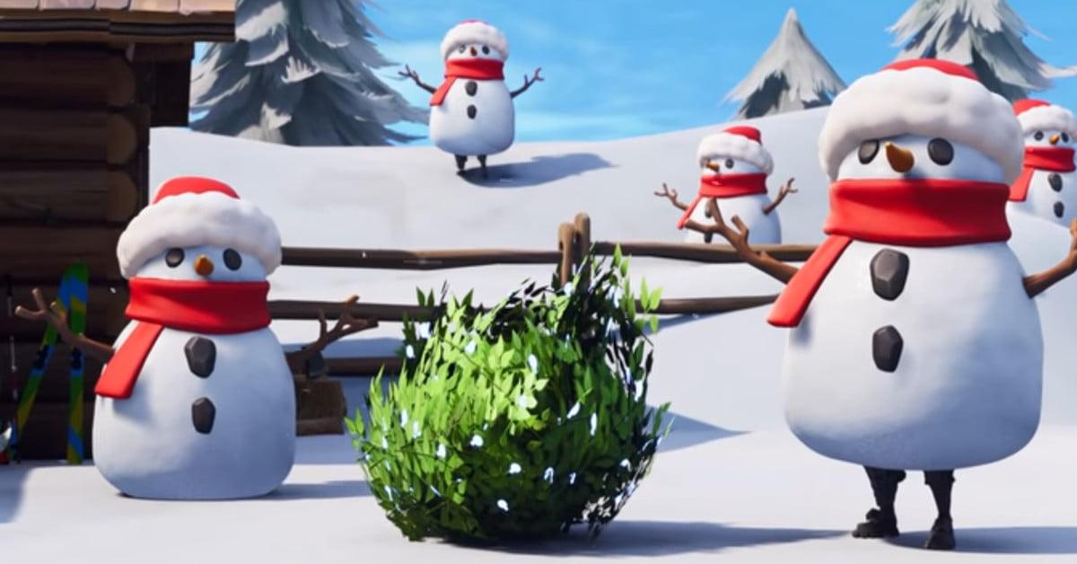 La mise à jour de Fortnite vous transforme en un homme des neiges mortel