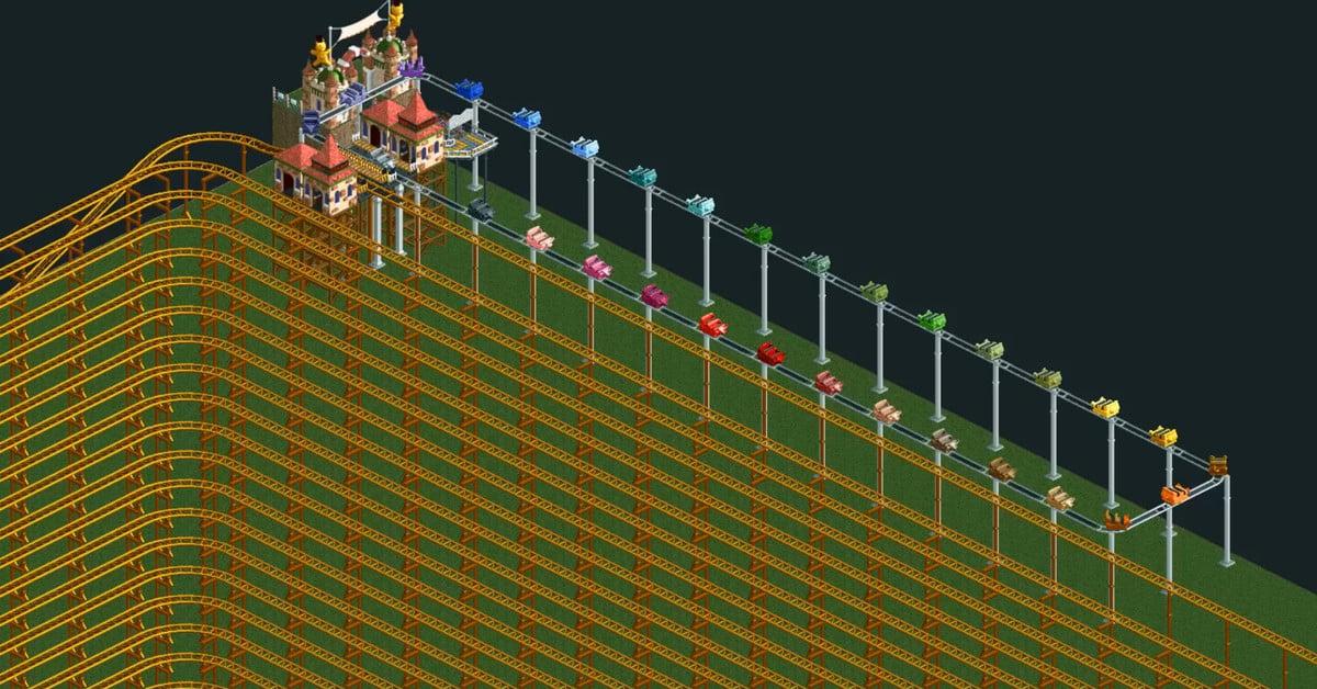 Le manège de RollerCoaster Tycoon 2 a pris 12 ans à réaliser