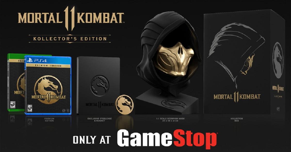 L'édition Kollector de Mortal Kombat 11 présente un masque Scorpion grandeur nature.