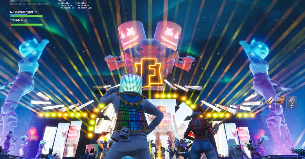 Marshmello donne un concert légendaire et anime une soirée dansante épique dans Fortnite