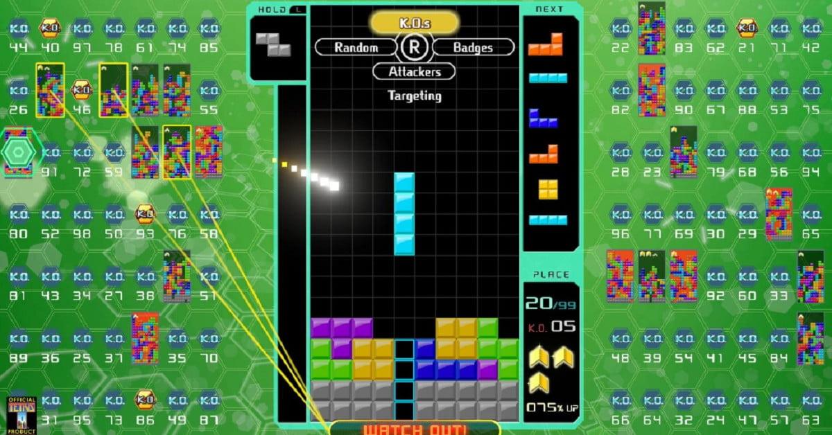 Tetris 99 Big Block DLC ajoute des modes bataille de CPU et marathon pour 10 $.