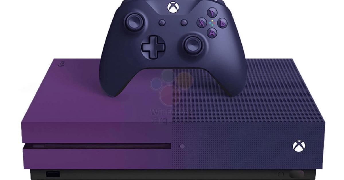 Xbox One S Fortnite Limited Edition : console 1TB très violette
