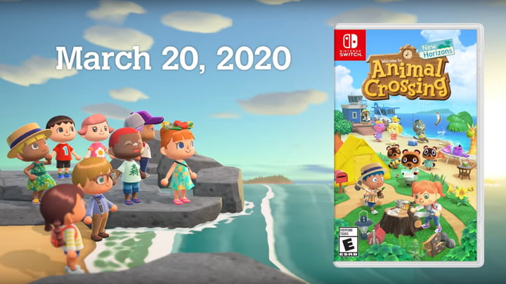 L'illustration de la boîte d'Animal Crossing : New Horizons