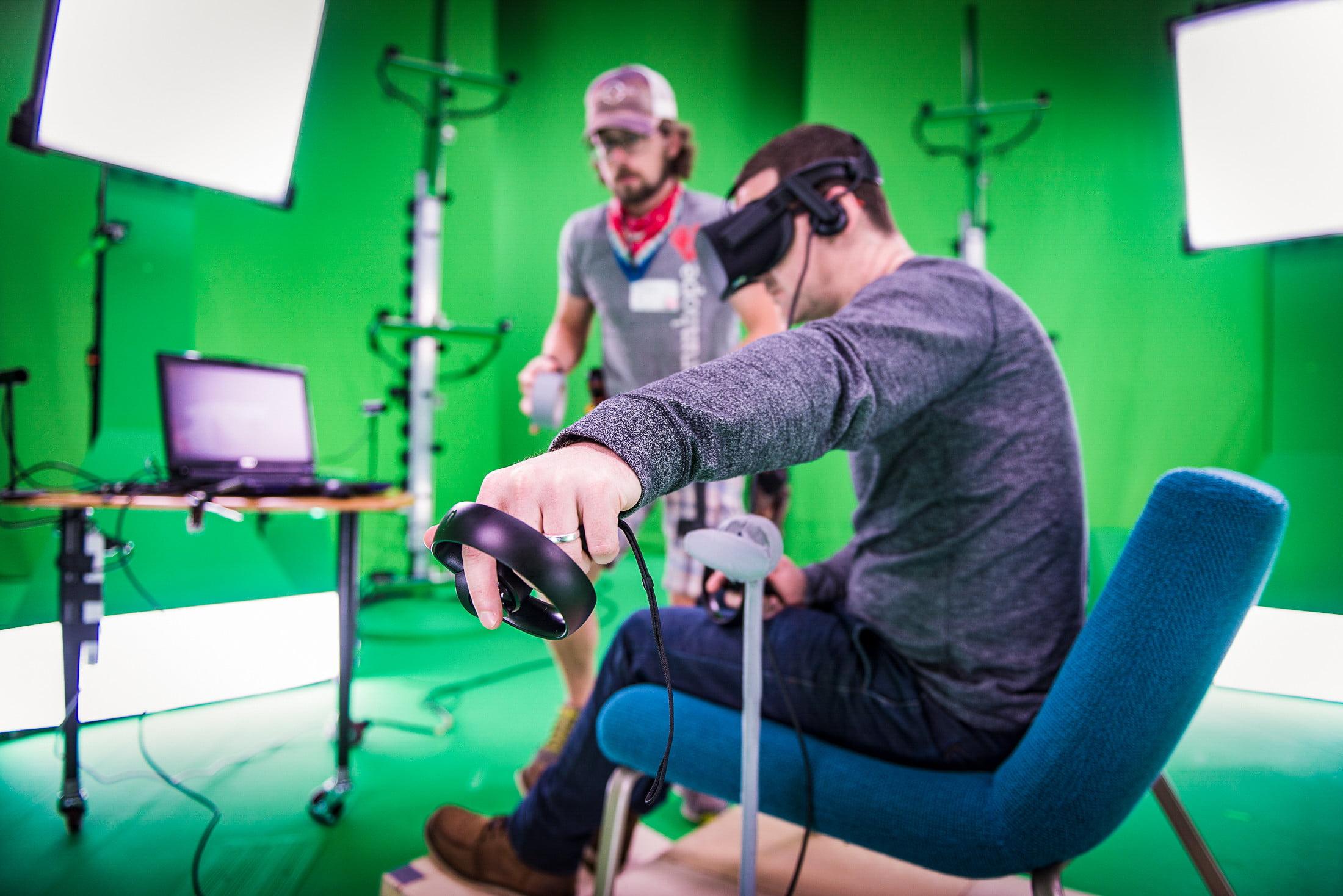Dans les coulisses du tournage de la capture de mouvement Awake VR.