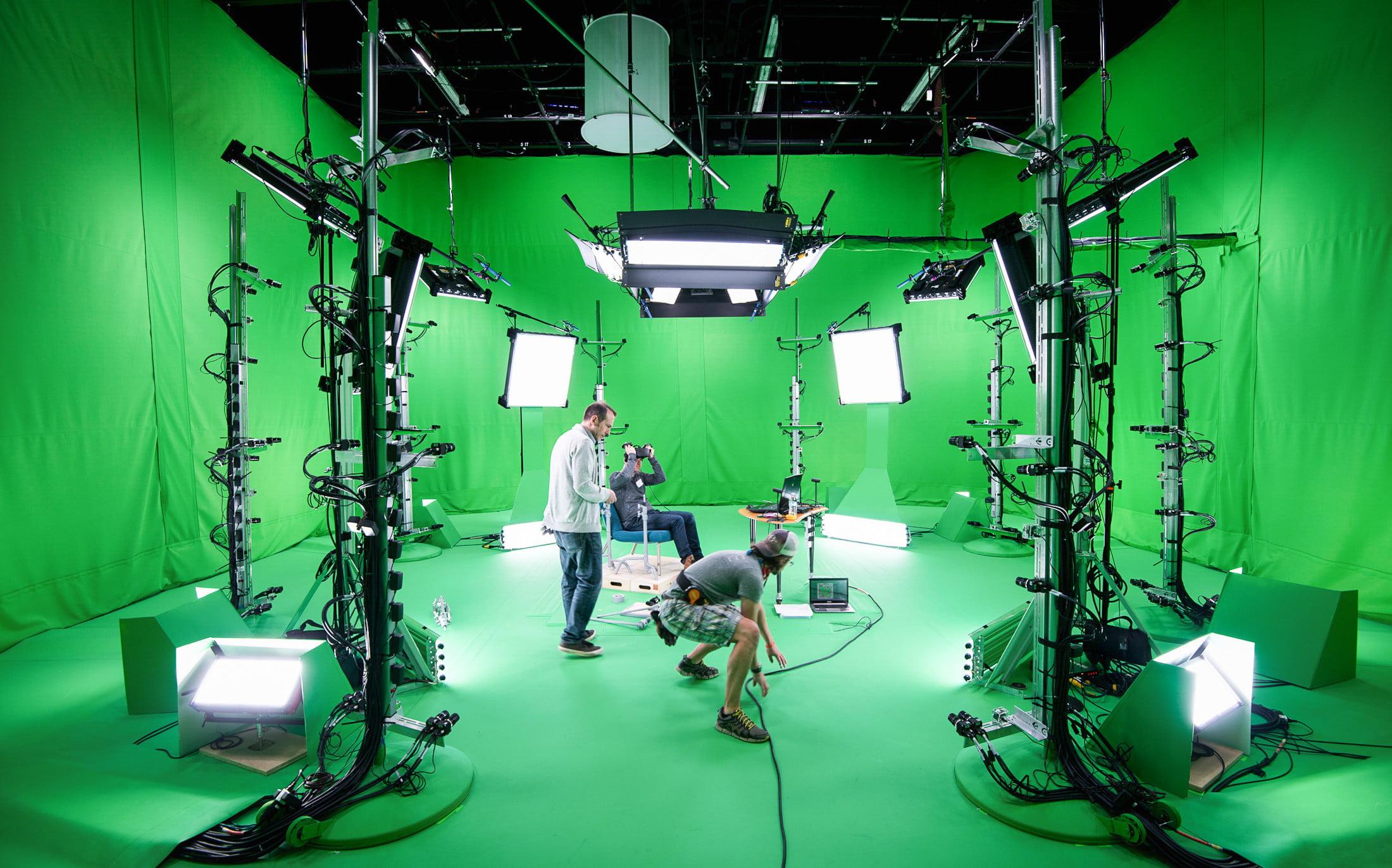 Les coulisses du tournage de la capture de mouvement Awake VR.