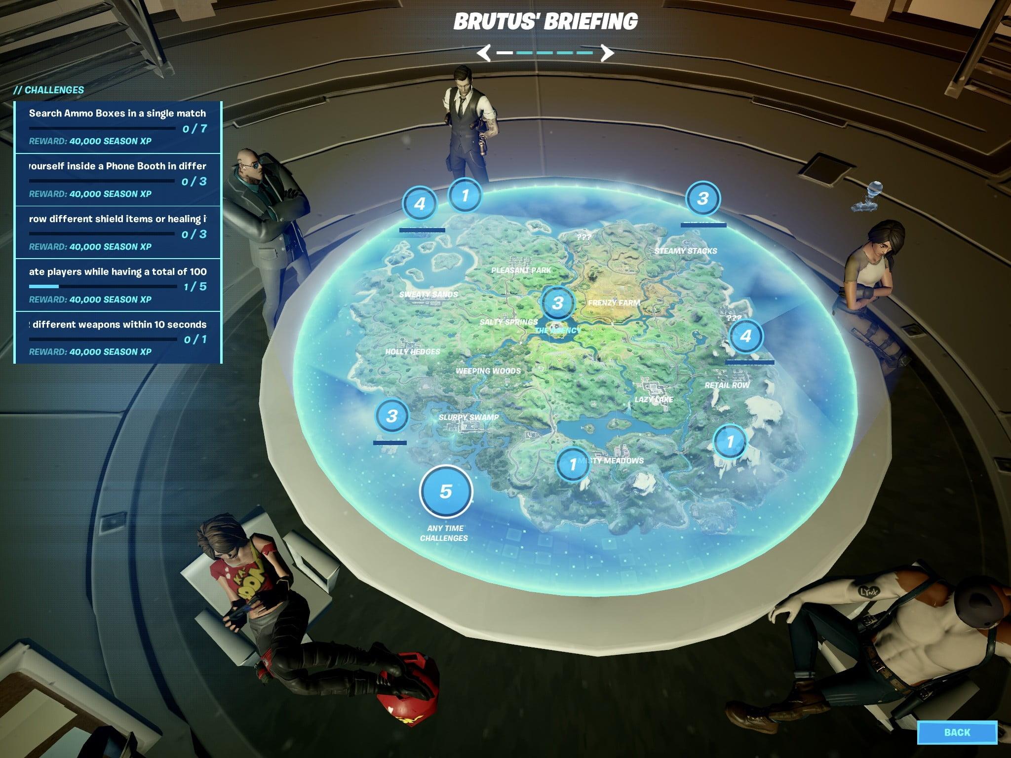 Briefings de Brutus dans Fortnite