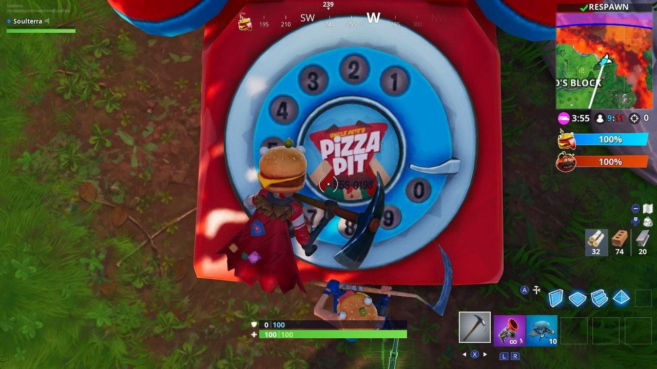 fortnite durr burger téléphone fortnite pizza pit téléphone