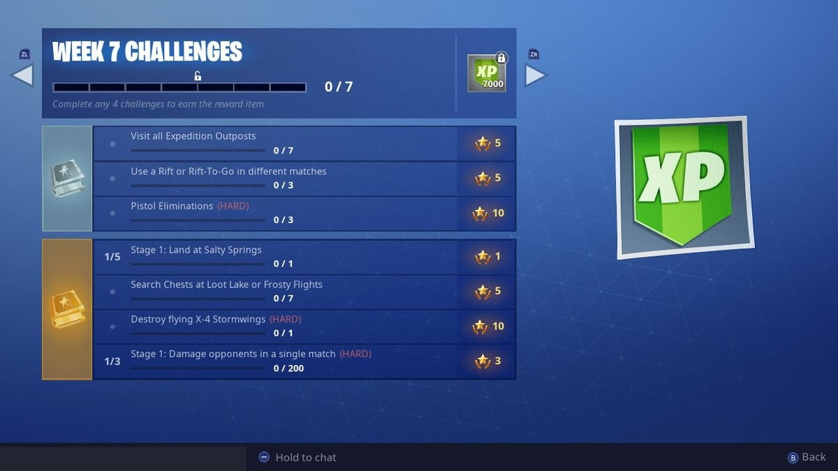 fortnite expedition outposts fortnite semaine 7 défis