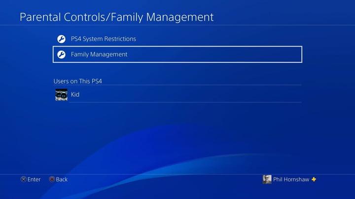 gestion de la famille comment configurer le contrôle parental de la playstation 4