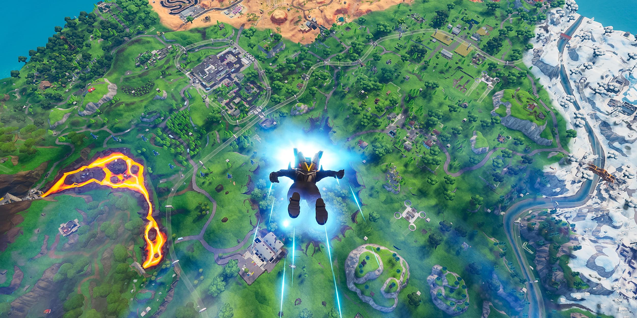 Fortnite Battle Royale ultraide en parachutisme