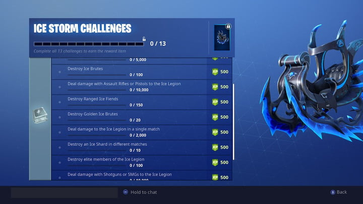 fortnite ice storm challenges golden ice brutes