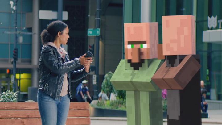 AR Minecraft réalité augmentée révéler Microsoft Build 2019