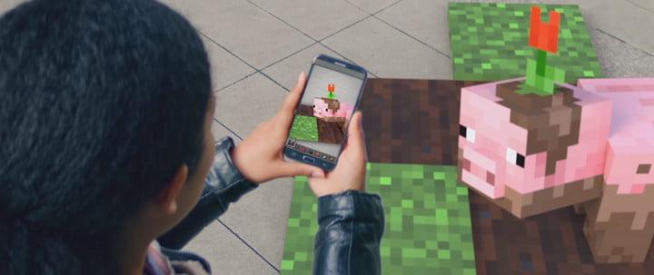 AR Minecraft réalité augmentée révélée Microsoft Build 2019