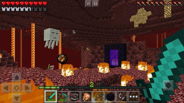 Minecraft sur iOS