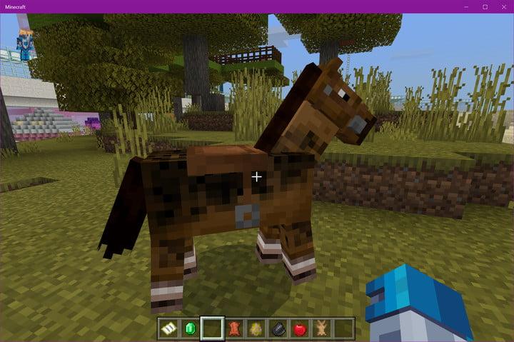 Cheval Minecraft avec selle