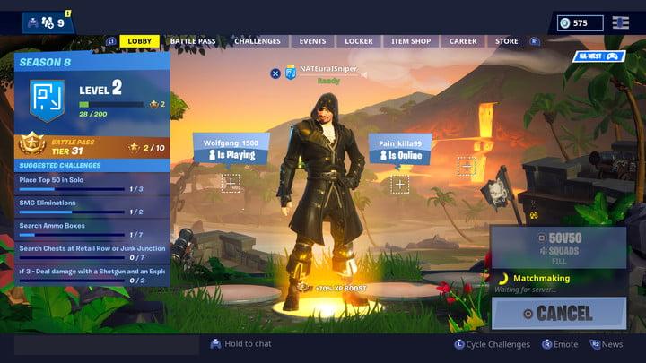 Nouveau Lobby dans Fortnite Saison 8