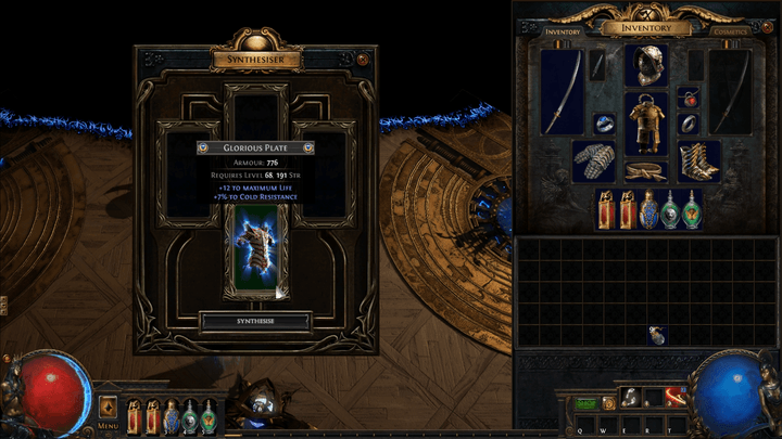 path of exile synthesis synthesiseditem