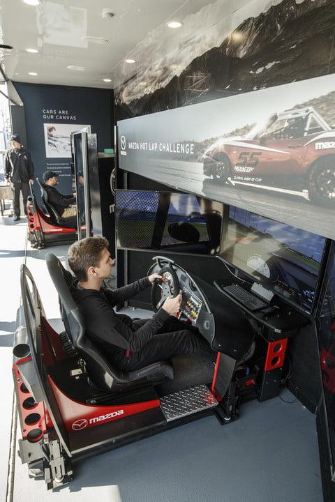 Mazda et iRacing - Simulateur de conduite