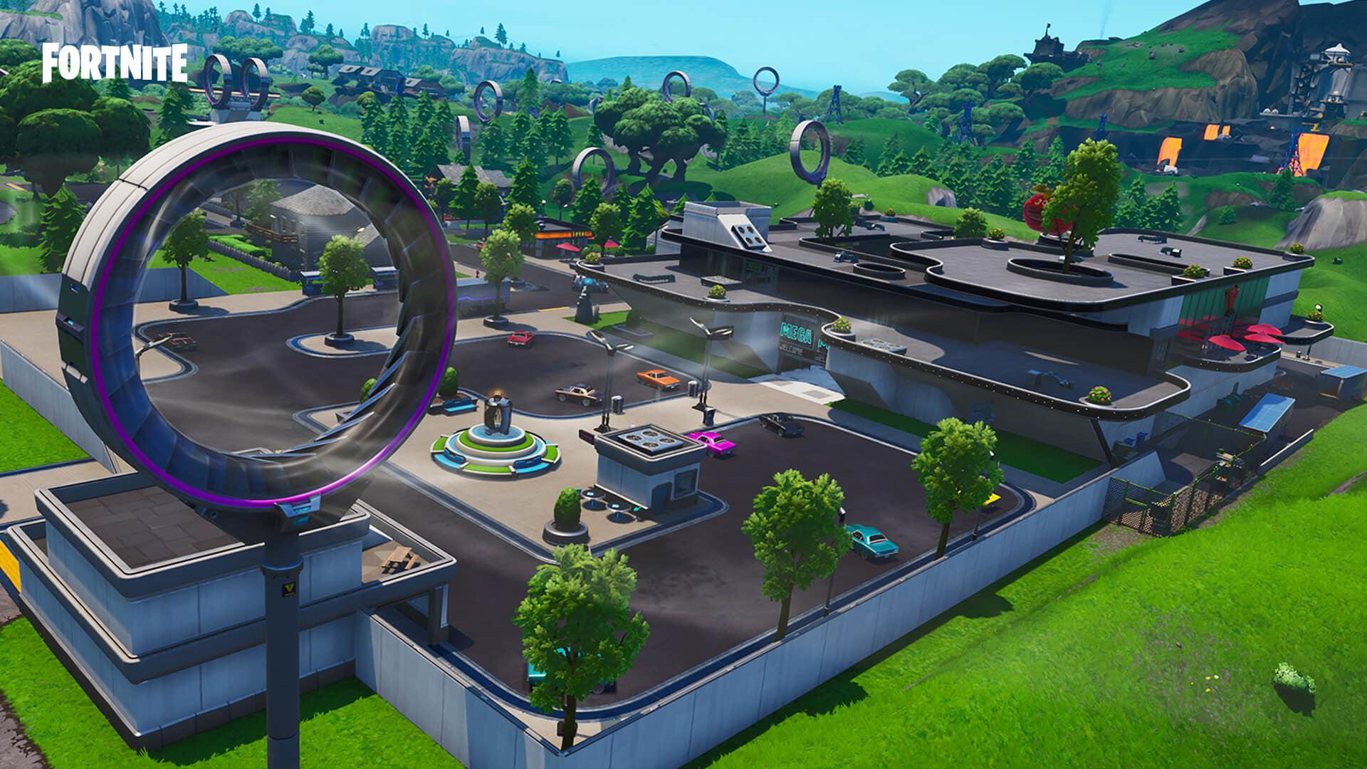 Fortnite saison 9 : changements de carte Fortnite Mega Mall