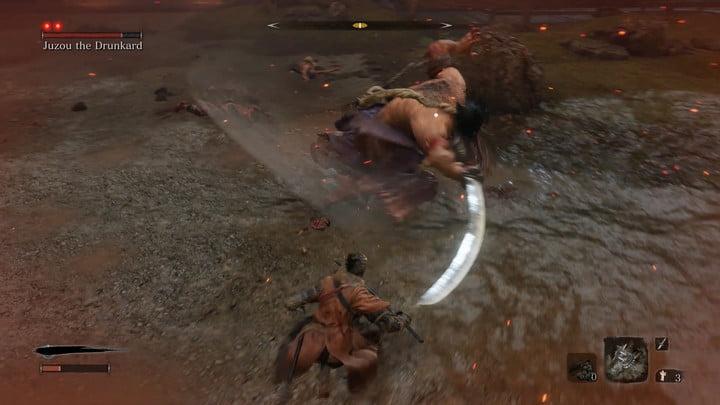Balancement périlleux de l'ivrogne Comment battre Jouzou l'ivrogne dans Sekiro : Les ombres meurent deux fois.