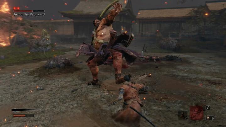 Perilous grab de l'ivrogne - Comment battre Jouzou l'ivrogne dans Sekiro : Les ombres meurent deux fois.