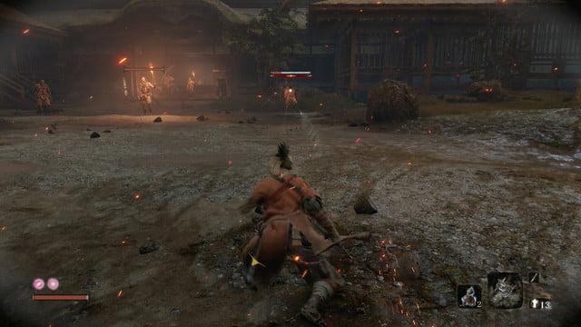 Combat à distance - Comment battre Jouzou l'ivrogne dans Sekiro : Les ombres meurent deux fois.