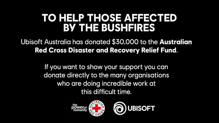 Dons caritatifs d'Ubisoft Australie